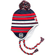 adidas Men's 2018 Winter Classic New York Rangers Red/White/Blue Tassel Pom Knit Beanie