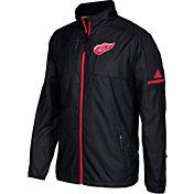 adidas Men's Detroit Red Wings Authentic Rink Black Full-Zip Jacket