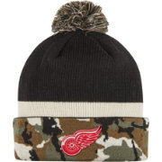 adidas Men's Detroit Red Wings Logo Camo Pom Knit Beanie