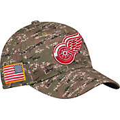 adidas Men's Detroit Red Wings Camo Structured Fitted Flex Hat