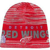 adidas Men's Detroit Red Wings Hockey Fights Cancer Red Knit Beanie