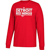adidas Men's Detroit Red Wings Dassler Red Long Sleeve Shirt