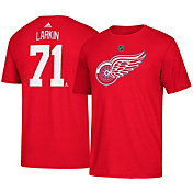 adidas Men's Detroit Red Wings Dylan Larkin #71 Red T-Shirt