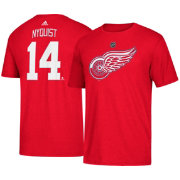 adidas Men's Detroit Red Wings Gustav Nyquist #14 Red T-Shirt