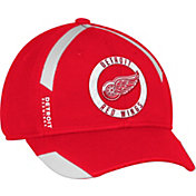 adidas Men's Detroit Red Wings Practice Structured Red Flex Hat