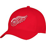 adidas Men's Detroit Red Wings Team Colored Basic Structured Red Flex Hat