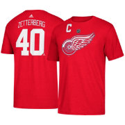 adidas Men's Detroit Red Wings Henrik Zetterberg #40 Red T-Shirt