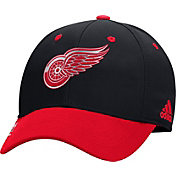 adidas Men's Detroit Red Wings 100 Year Structured Black Flex Hat
