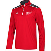 adidas Men's Detroit Red Wings Red Performance Quarter-Zip Jacket