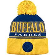 adidas Men's Buffalo Sabres Heather Grey Pom Knit Beanie