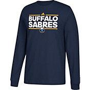 adidas Men's Buffalo Sabres Dassler Navy Long Sleeve Shirt