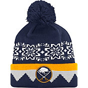 adidas Men's Buffalo Sabres Ugly Sweater Navy Pom Knit Beanie