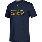 adidas Men's Buffalo Sabres Go-To Shift Navy Performance T-Shirt
