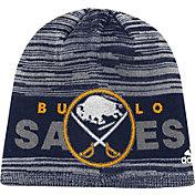 adidas Men's Buffalo Sabres Locker Room Navy Knit Beanie