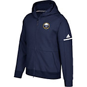 adidas Men's Buffalo Sabres Authentic Pro Squad ID Navy Full-Zip Hoodie