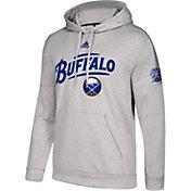 adidas Men's 2018 Winter Classic Buffalo Sabres Logo Heather Grey Fleece Pullover Hoodie