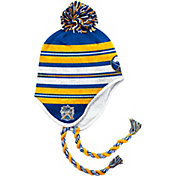 adidas Men's 2018 Winter Classic Buffalo Sabres Blue/Gold/White Tassel Pom Knit Beanie