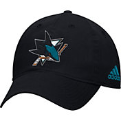 adidas Men's San Jose Sharks Basic Black Slouch Adjustable Hat