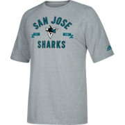 adidas Men's San Jose Sharks Misconduct Performance Heather Grey T-Shirt