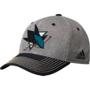 adidas Men's San Jose Sharks Two-Color Heather Grey/Black Snapback Adjustable Hat