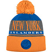 adidas Men's New York Islanders Heather Grey Pom Knit Beanie
