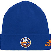 adidas Men's New York Islanders Basic Black Knit Beanie