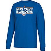 adidas Men's New York Islanders Dassler Royal Long Sleeve Shirt