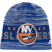 adidas Men's New York Islanders Locker Room Royal Knit Beanie