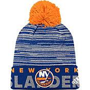 adidas Men's New York Islanders Locker Room Royal Pom Knit Beanie