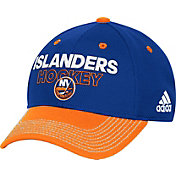adidas Men's New York Islanders Locker Room Royal Structured Fitted Flex Hat