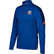 adidas Men's New York Islanders Authentic Pro Royal Quarter-Zip Jacket