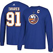 adidas Men's New York Islanders John Taveras #91 Royal Long Sleeve Shirt