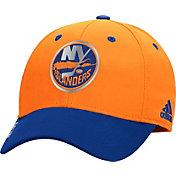 adidas Men's New York Islanders 100 Year Structured Orange Flex Hat