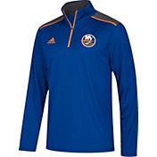 adidas Men's New York Islanders Royal Performance Quarter-Zip Jacket