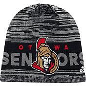 adidas Men's Ottawa Senators Locker Room Grey Knit Beanie