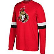 adidas Men's Ottawa Senators Jersey Red Long Sleeve Shirt