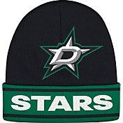 adidas Men's Dallas Stars Logo Black Knit Beanie