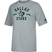 adidas Men's Dallas Stars Misconduct Performance Heather Grey T-Shirt