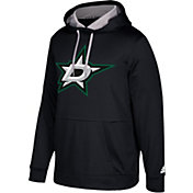 adidas Men's Dallas Stars Black Performance Pullover Hoodie