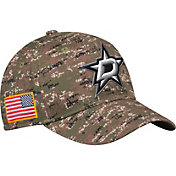 adidas Men's Dallas Stars Camo Structured Fitted Flex Hat