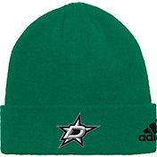 adidas Men's Dallas Stars Basic Green Knit Beanie