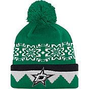 adidas Men's Dallas Stars Ugly Sweater Green Pom Knit Beanie