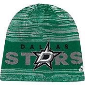 adidas Men's Dallas Stars Locker Room Green Knit Beanie