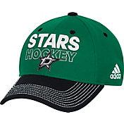 adidas Men's Dallas Stars Locker Room Green Structured Fitted Flex Hat