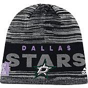 adidas Men's Dallas Stars Hockey Fights Cancer Grey Knit Beanie