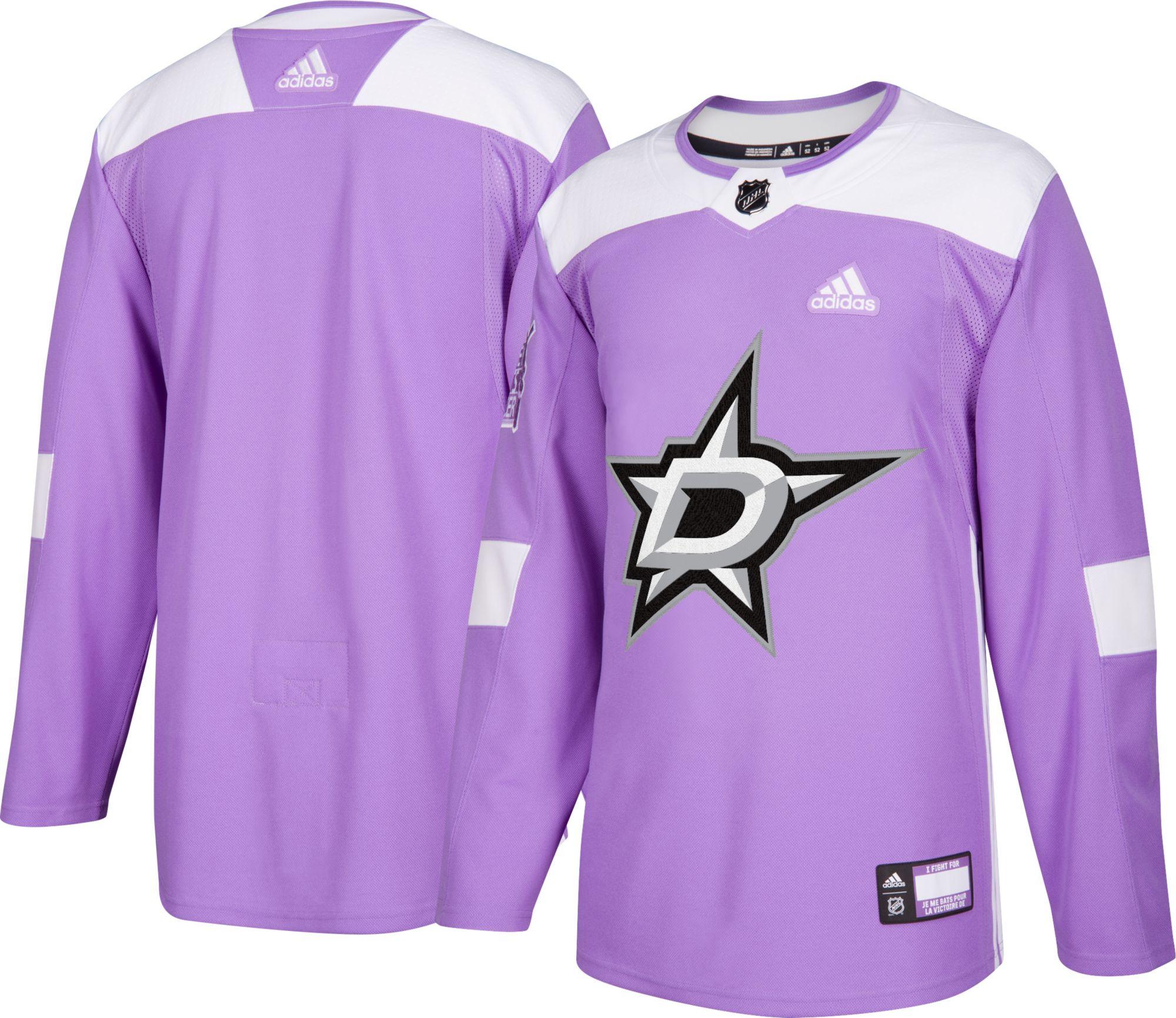 69083d25 ... adidas Mens Dallas Stars Hockey Fights Cancer Authentic Pro Mens Dallas  Stars Reebok Purple ...