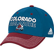 adidas Men's Colorado Avalance Locker Room Blue Structured Fitted Flex Hat