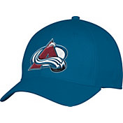 adidas Men's Colorado Avalance Team Colored Basic Structured Blue Flex Hat