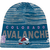 adidas Men's Colorado Avalanche Hockey Fights Cancer Navy Knit Beanie