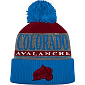 adidas Men's Colorado Avalanche Heather Grey Pom Knit Beanie